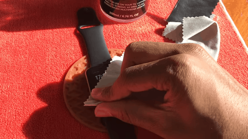 disinfecting Apple Watch