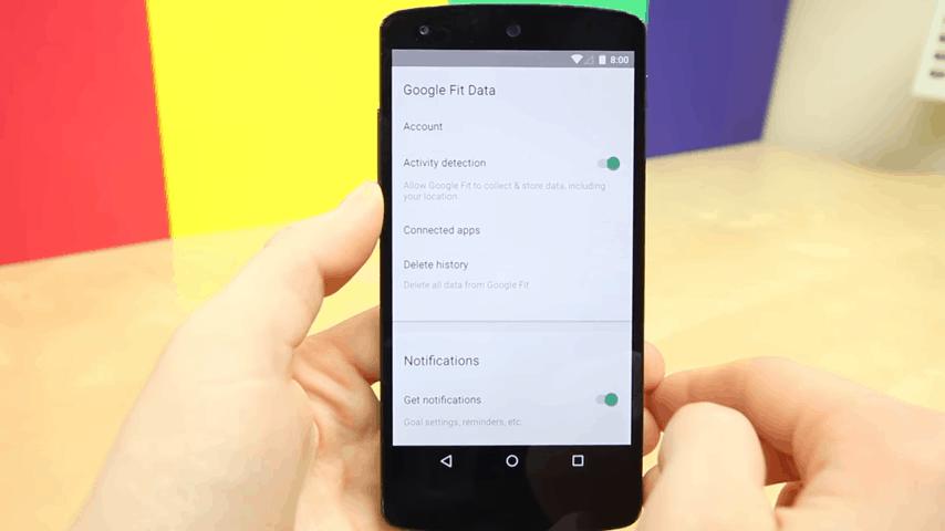 Google Fit App Data