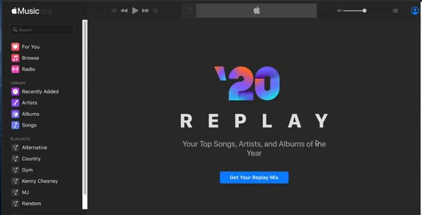Apple Music Replay 20