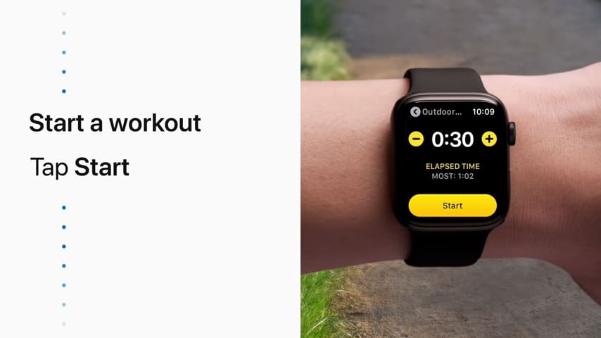 workout with Apple Watch