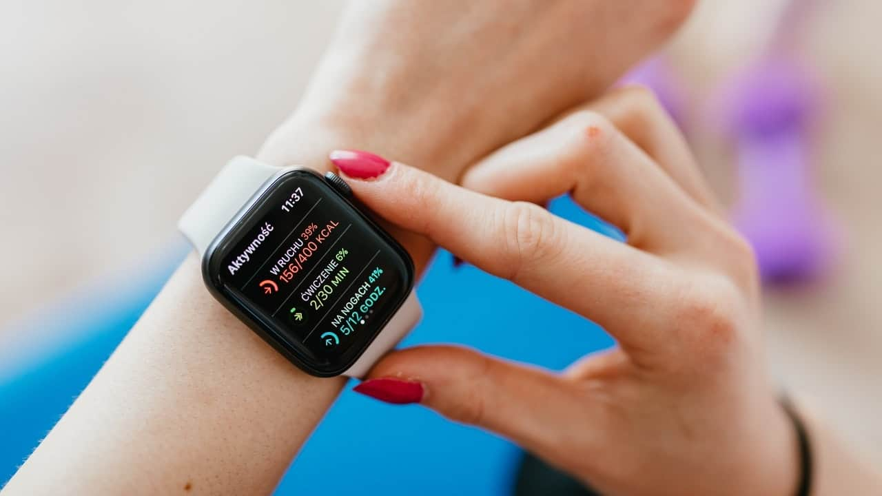 smartwatch on wrist