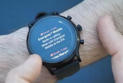 Fossil Gen 5 Smartwatch mail check
