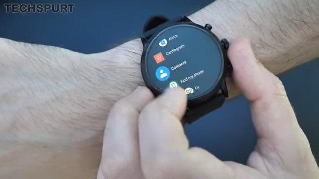 Fossil Gen 5 Smartwatch menu