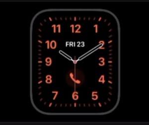 Apple Watch 6 face-California